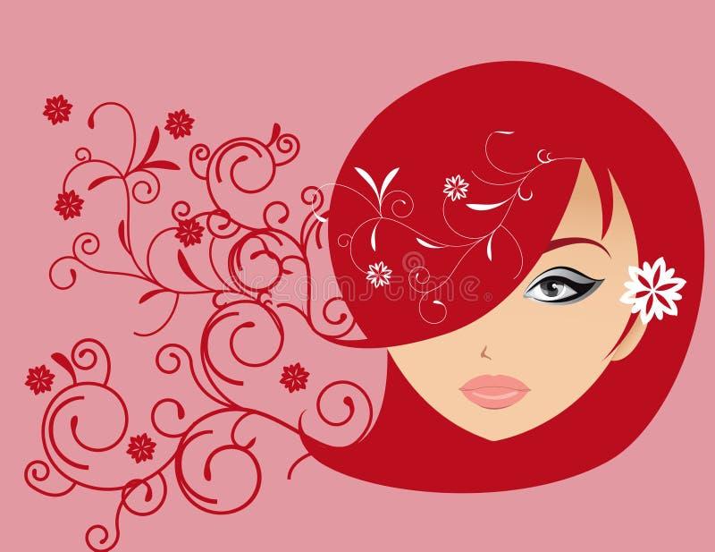 Amore astratto dell'illustrazione delle donne illustrazione vettoriale