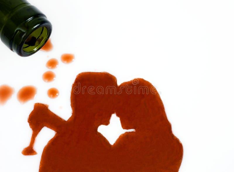 Amore con vino fotografia stock