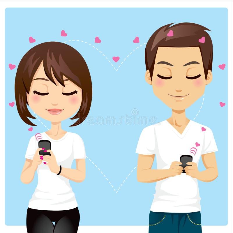 Amore connesso illustrazione di stock
