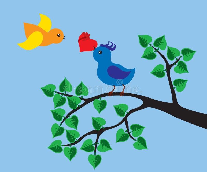 Amore degli uccelli illustrazione vettoriale