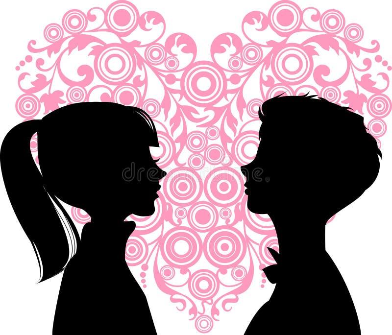 Amore degli uomini e delle donne royalty illustrazione gratis