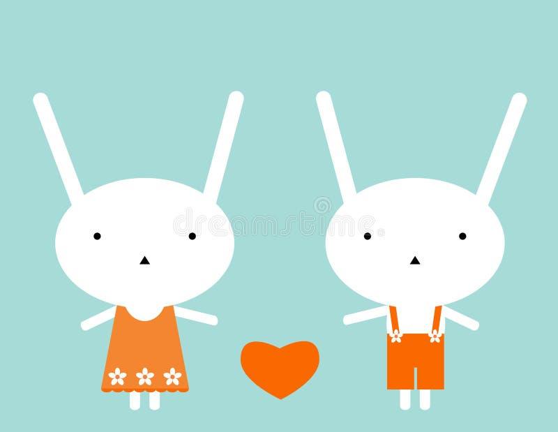 Amore dei coniglietti illustrazione vettoriale