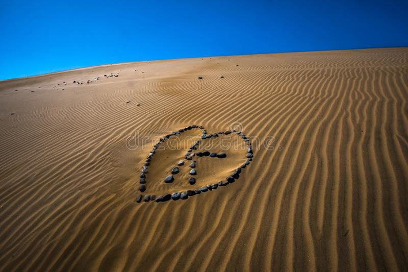 Amore del deserto fotografia stock libera da diritti