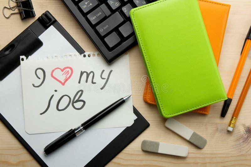 Amore del ` I il mio ` di lavoro fotografia stock