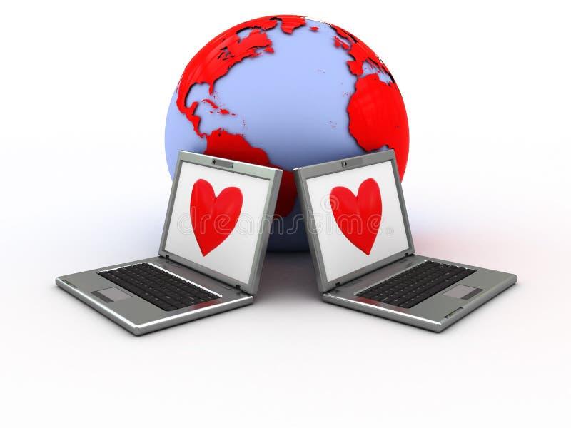 Amore del Internet royalty illustrazione gratis