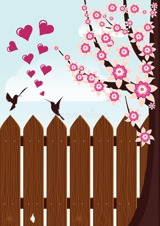 Amore dell'uccello illustrazione di stock