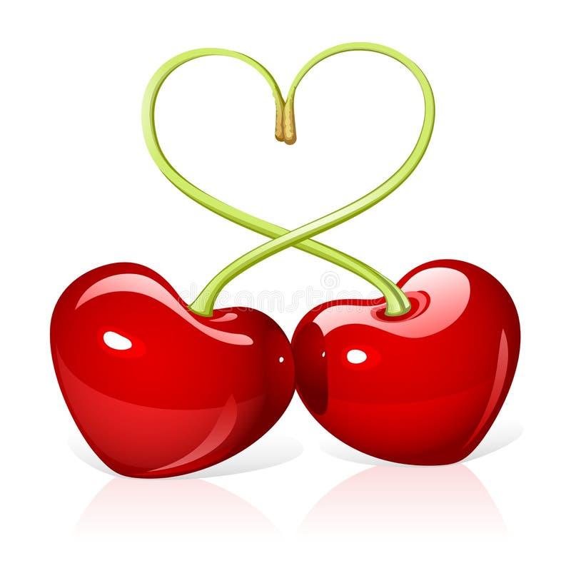 Amore della ciliegia illustrazione di stock