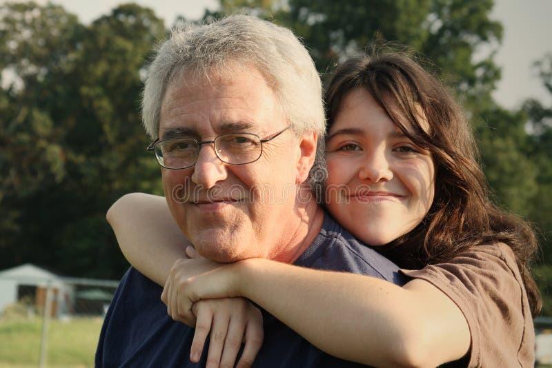 Amore della figlia e del padre immagine stock libera da diritti
