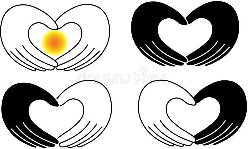Amore della mano del cuore royalty illustrazione gratis