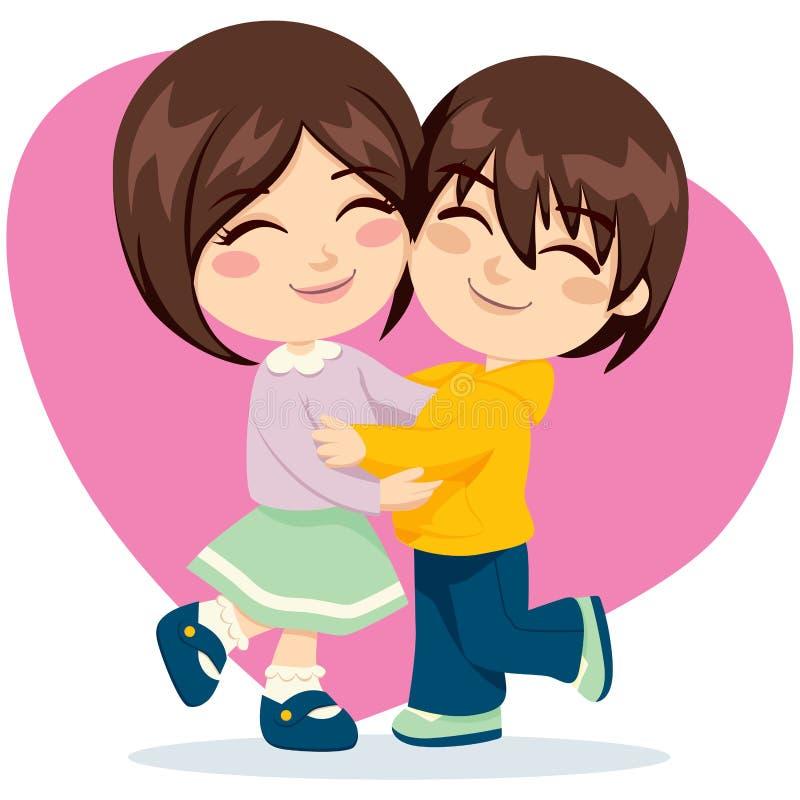 Amore della sorella del fratello royalty illustrazione gratis