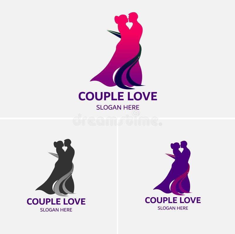 Amore delle coppie che balla Logo Template royalty illustrazione gratis