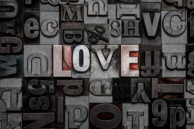 Amore dello scritto tipografico immagine stock