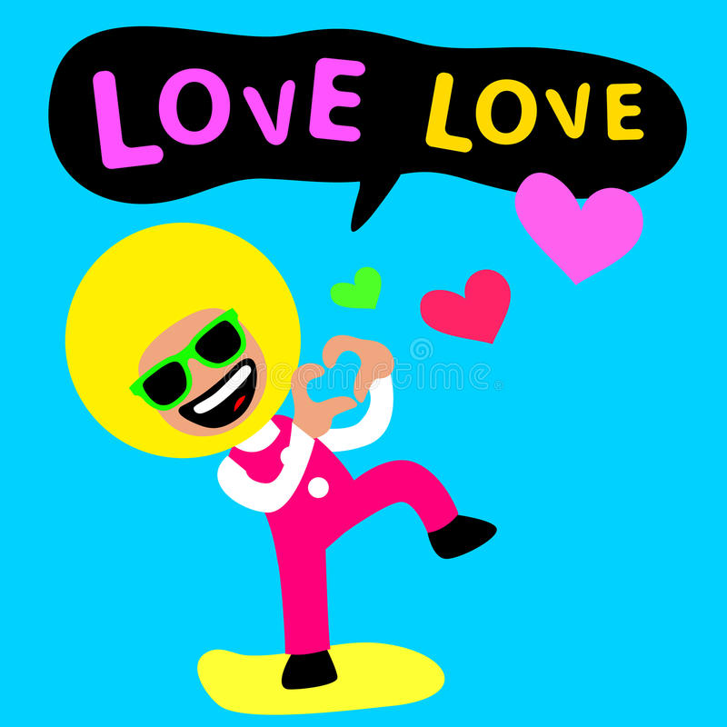 Amore di amore di afro illustrazione di stock
