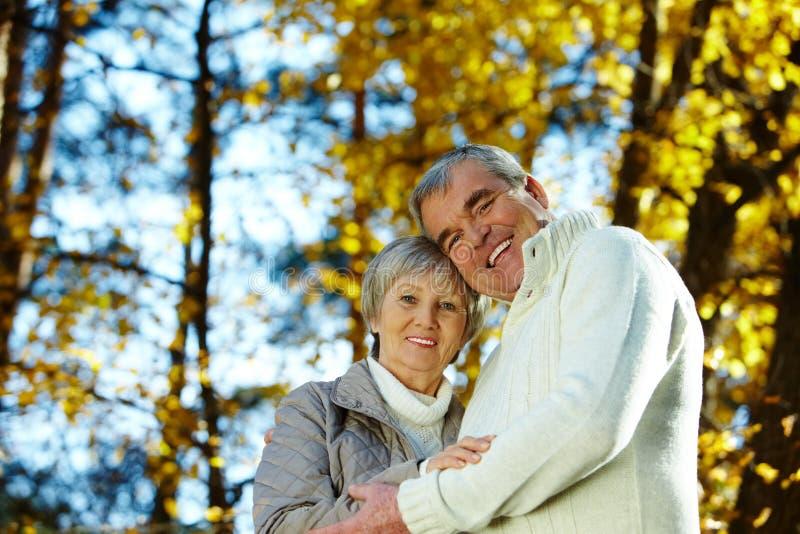 Amore di autunno fotografie stock libere da diritti