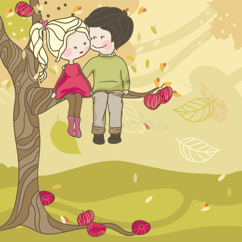 Amore di autunno royalty illustrazione gratis