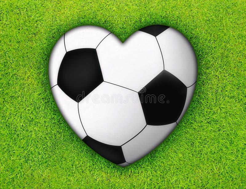 Amore di calcio illustrazione di stock