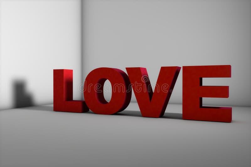 Amore di nome in 3d, molto bello fotografie stock