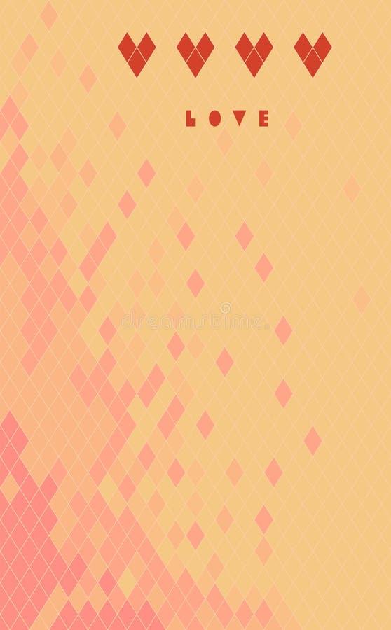 Amore di rosso del fondo royalty illustrazione gratis