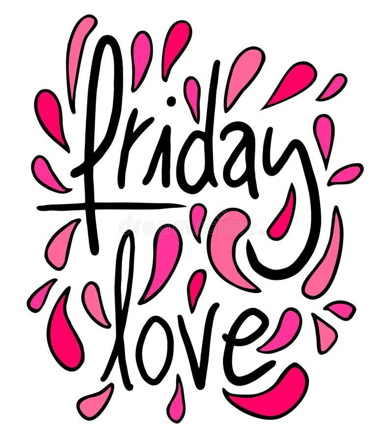 Amore di venerdì illustrazione vettoriale