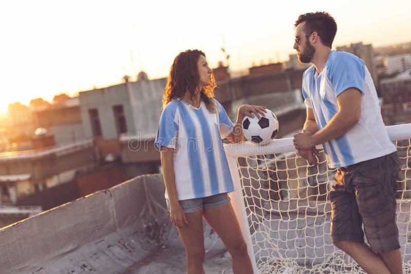Amore e calcio fotografia stock