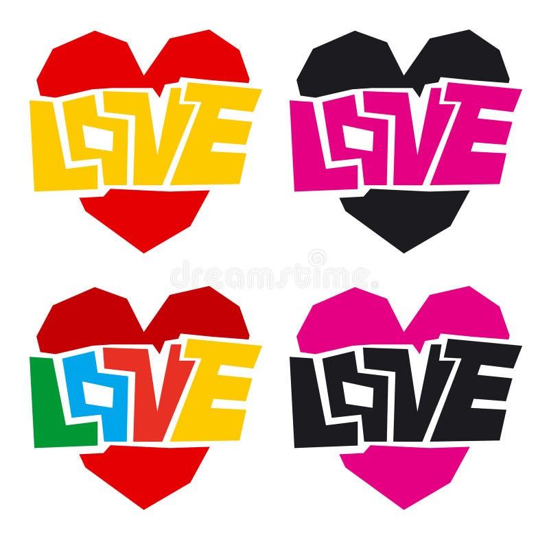 Amore e cuore immagini stock