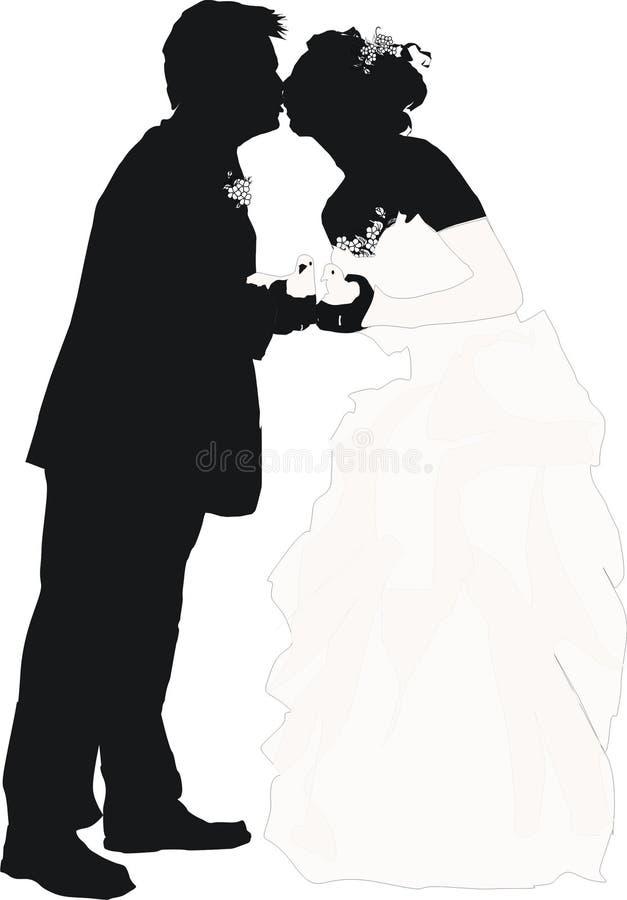 Amore e piccioni illustrazione vettoriale