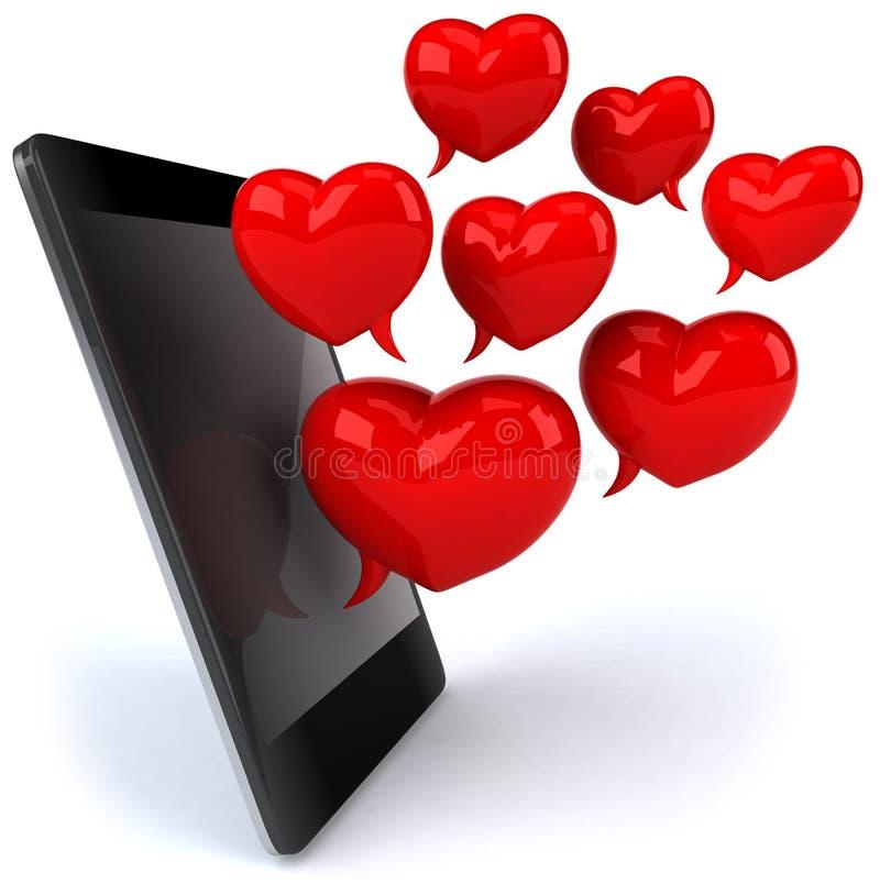 Amore e smartphone royalty illustrazione gratis