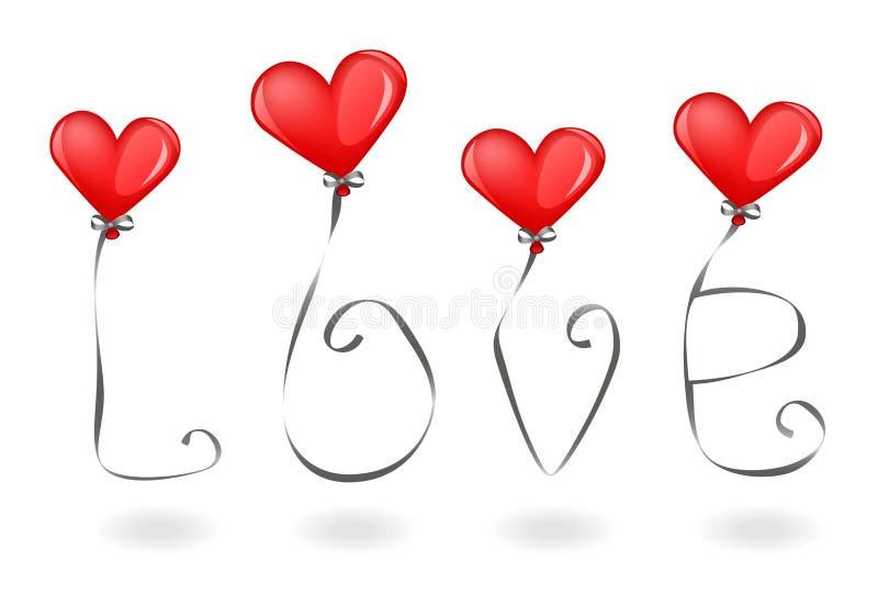Amore ed aerostati royalty illustrazione gratis