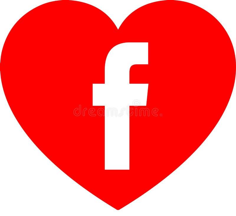 Amore Facebook illustrazione di stock