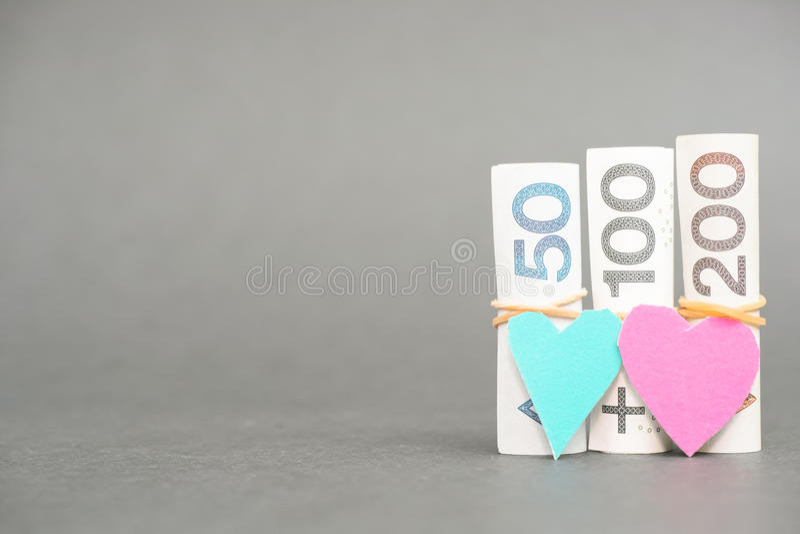 Amore finanziario polacco fotografia stock