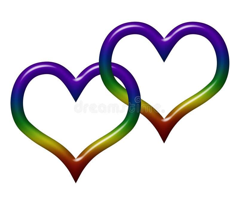 Amore gay illustrazione di stock