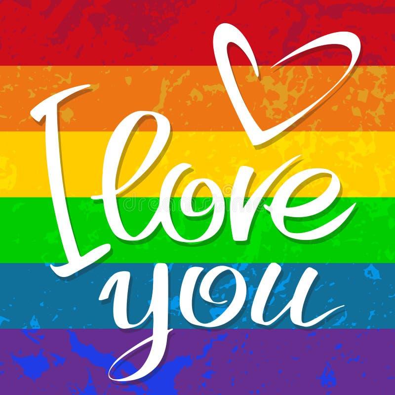 Amore gay della bandiera illustrazione vettoriale