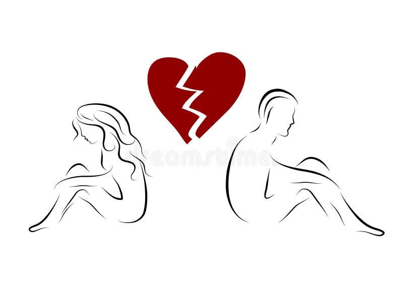 Amore infelice illustrazione di stock