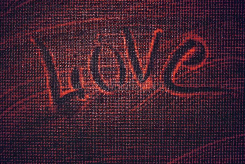 Amore, l'iscrizione sulla schiuma Una dichiarazione di amore fotografia stock
