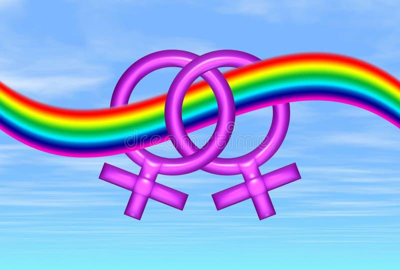 Amore lesbico illustrazione vettoriale