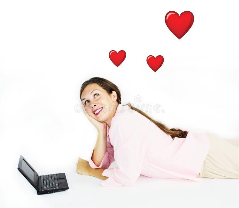 Amore in linea fotografia stock