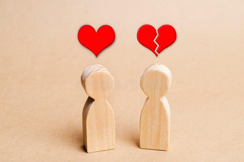 Amore non corrisposto Rifiuto di riconoscimento nell'amore Rifiuto delle relazioni, rottura delle relazioni Cuore rotto Relations immagine stock libera da diritti