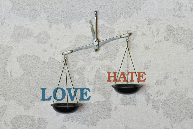 Amore o avversione immagine stock libera da diritti