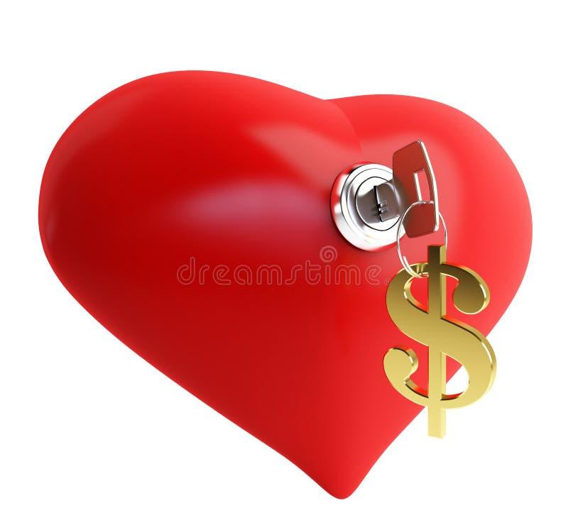 Amore per soldi illustrazione vettoriale