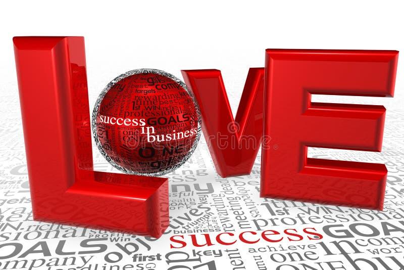 Amore per successo illustrazione vettoriale