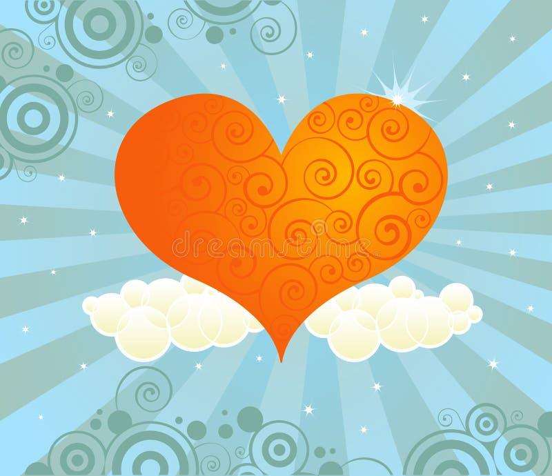 Amore radiante illustrazione di stock