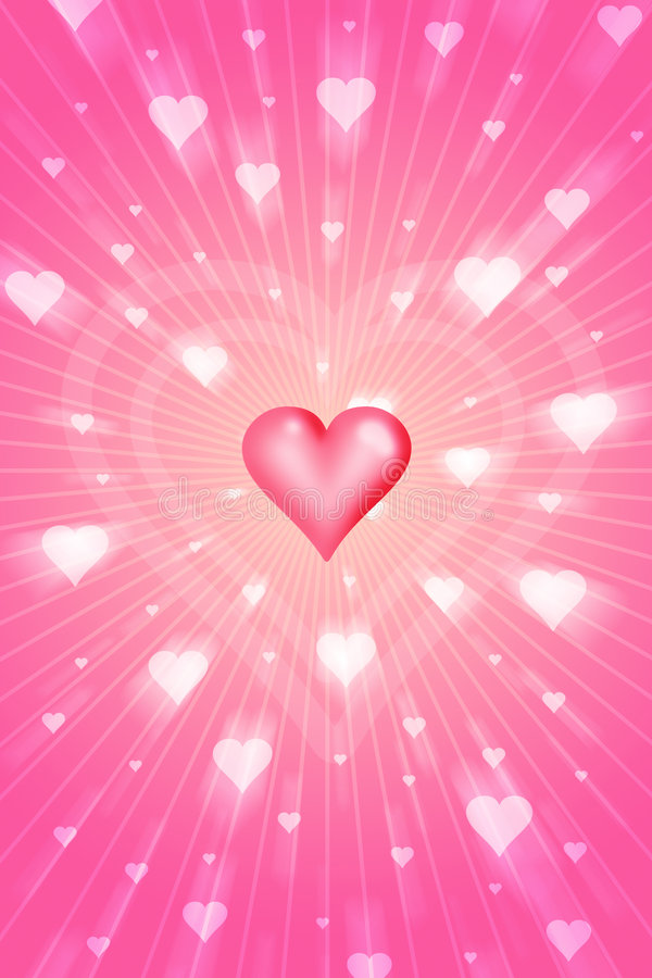Amore radiante royalty illustrazione gratis