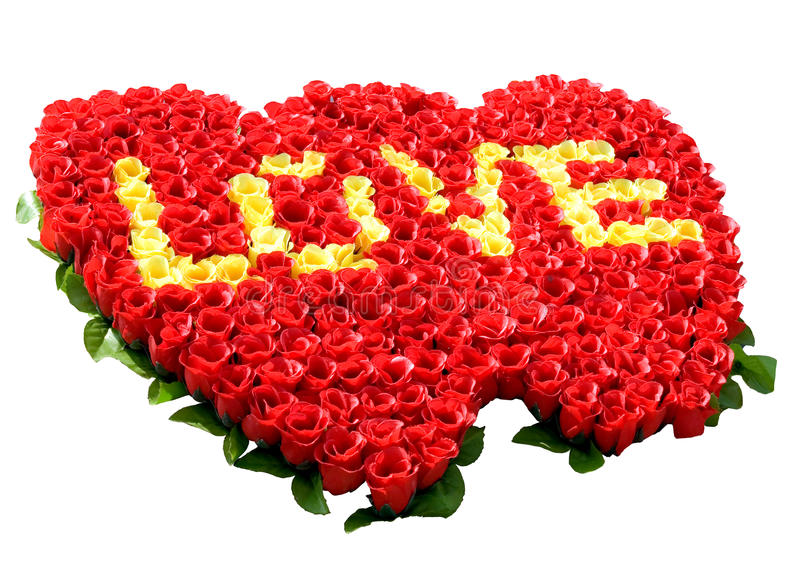 Amore in rose immagini stock