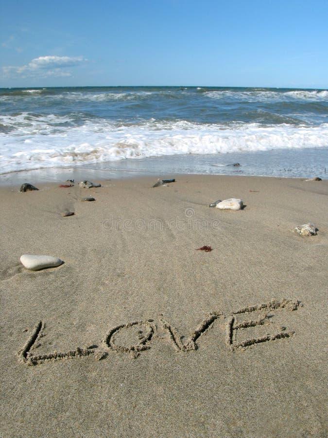 Amore sulla spiaggia immagini stock libere da diritti
