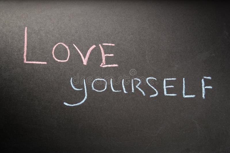 Amore voi stessi dell'iscrizione immagini stock libere da diritti