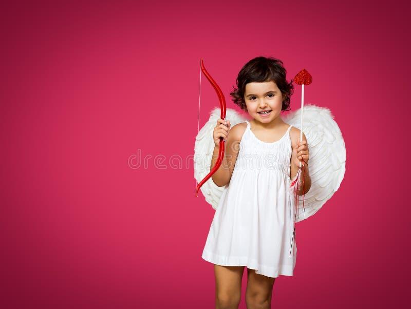 Amorek mała dziewczynka zdjęcia royalty free