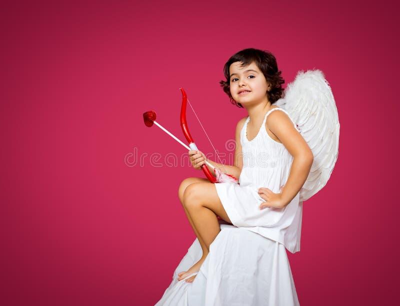 Amorek mała dziewczynka obrazy royalty free