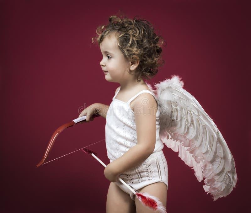 Amorek mała dziewczynka zdjęcie royalty free