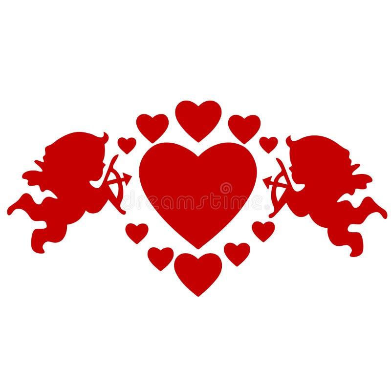 Amoren und Innere stock abbildung