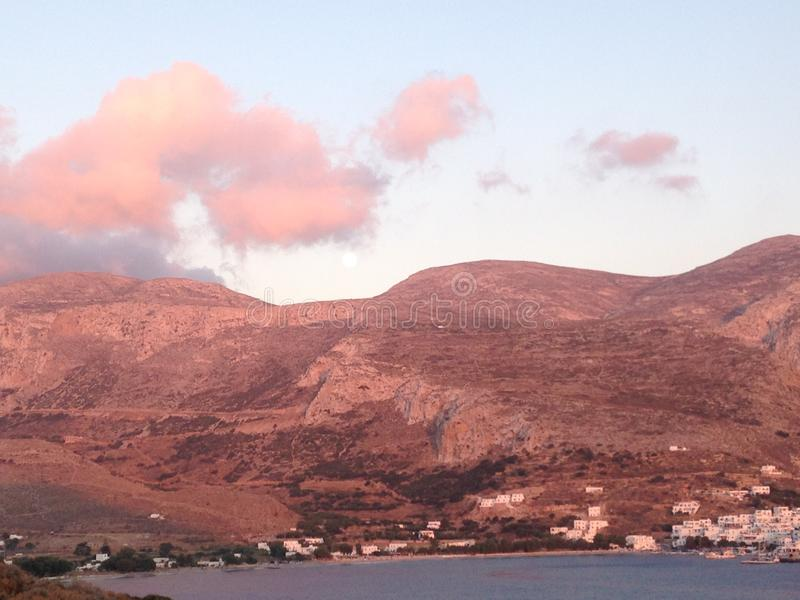 Amorgos, Cycladen, Griekenland stock foto's